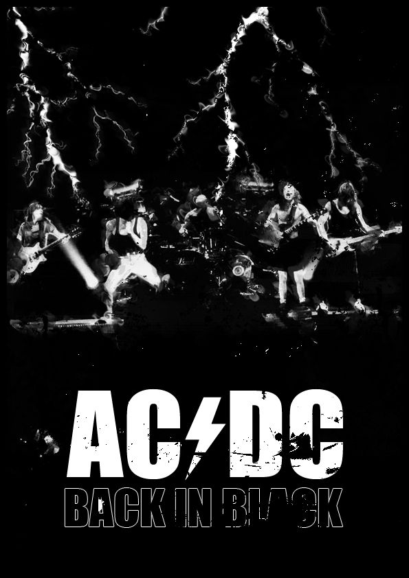 ACDC ~ Back in Black by Jigssaw