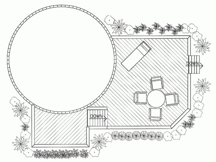 18ft Above Ground Pool Deck Plans | Eplans Deck Plan - Poolside Perfection from Eplans - House Plan Code ...