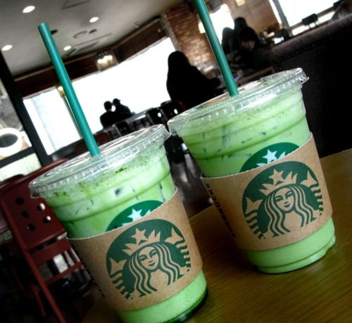 Iced Green Tea Latte.