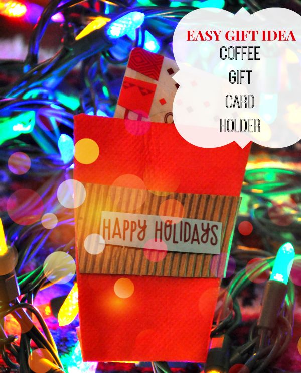 Easy Holiday Gift Ideas With Dunkin' Donuts® – Coffee Gift Card Holder