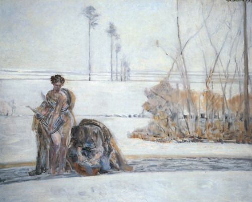 Jacek Malczewski, Winter Landscape, n.d.