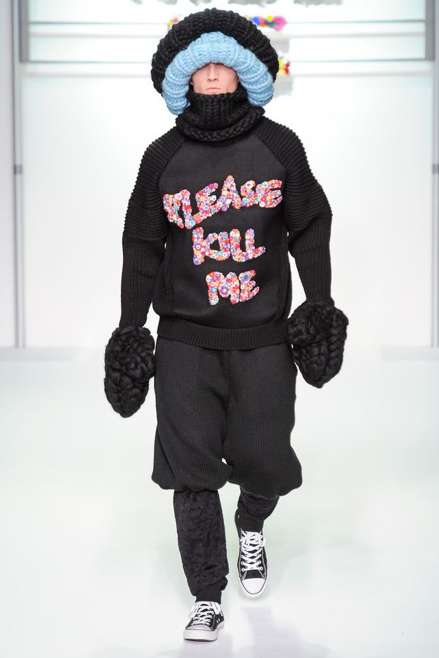 This is the opening look from the Sibling show that walked in London Men's Fashion Week.