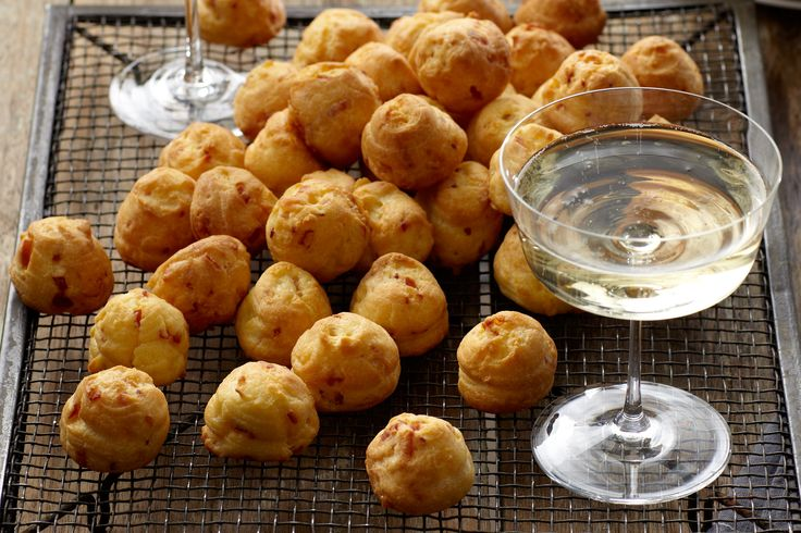 These golden brown puffs by Curtis Stone are very yummy and easy to make. I've never made choux pastry and they worked first time. Dip them in tziziki!