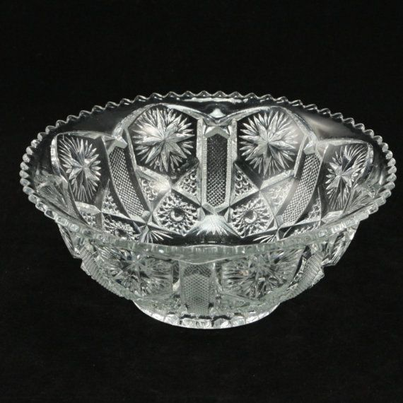 Antique EAPG Imperial Glass Star File 7 in Bowl by charmings, $12.00
