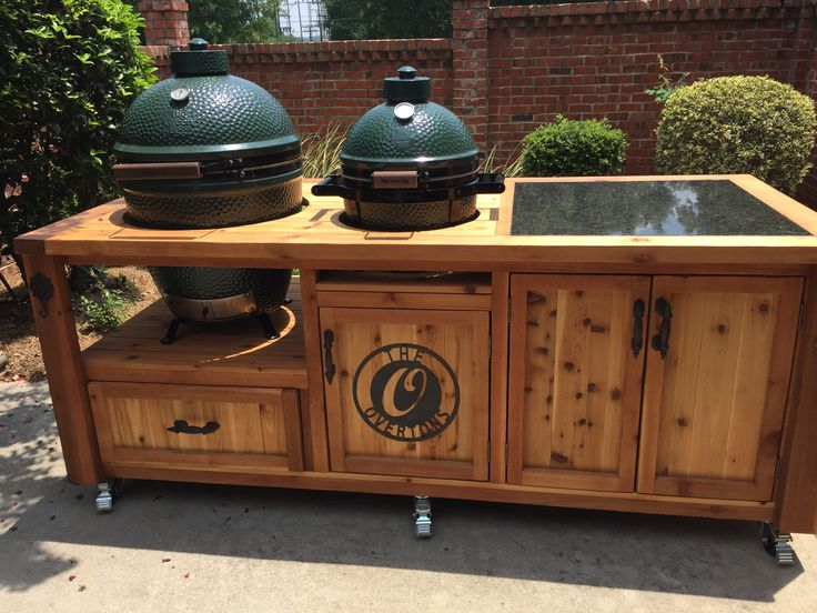 Egg Grill, Weber Grill, Cabinets