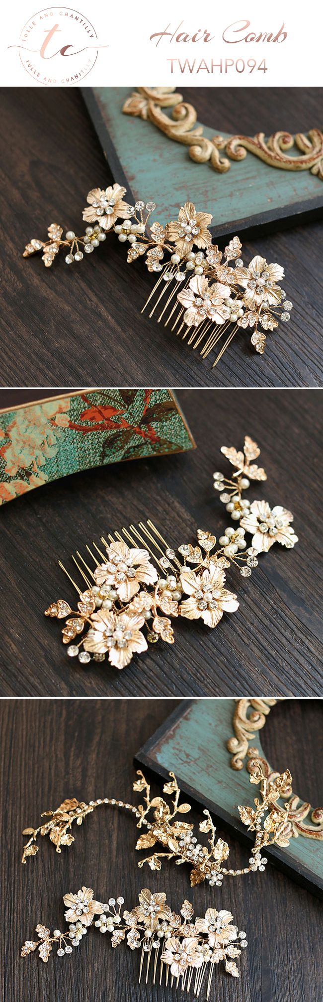 Rhinestone   Faux Pearl Bridal Comb