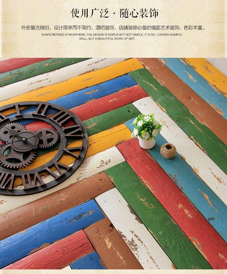 Американский ретро деревянные декоративные панели ТВ стены творческий настенные росписи пола кафе-бар украшения -tmall.com Lynx