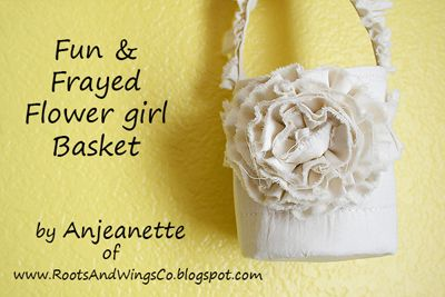 Fabric Flower Basket