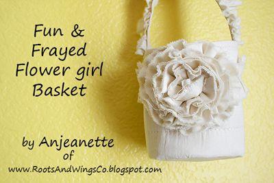 Fabric Flower Basket