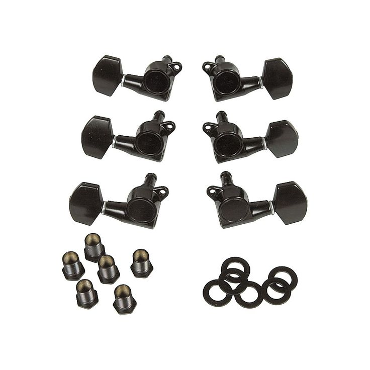 Gotoh MLB3-G 3-On-A-Side Locking Tuners 6-Pack Black