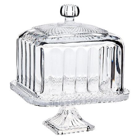 Belmont Domed Crystal Cake Plate