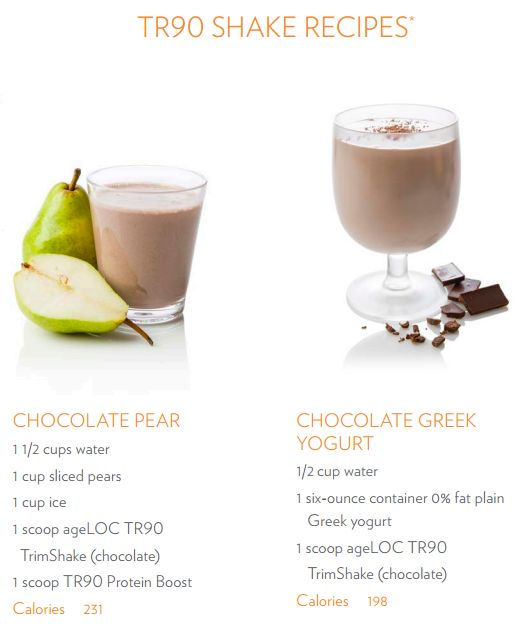 'Shake' things up by adding these two recipes to your #TR90 plan.