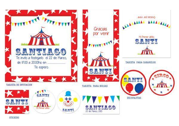 Invitaciones Para Baby Shower De Circo