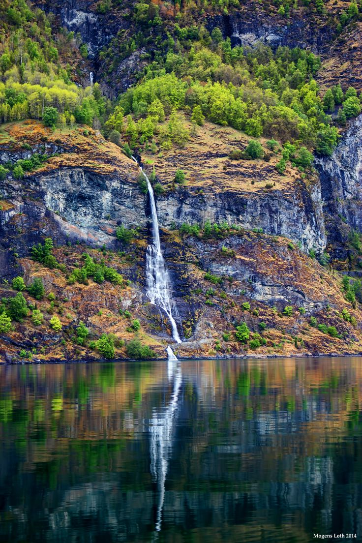 One of the many small watercourses by Aurlandsfjorden, Norway