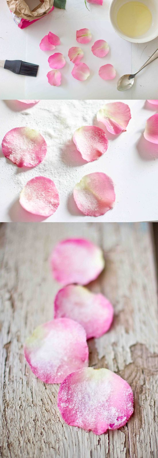 Edible candied rose petals- so easy and elegant!