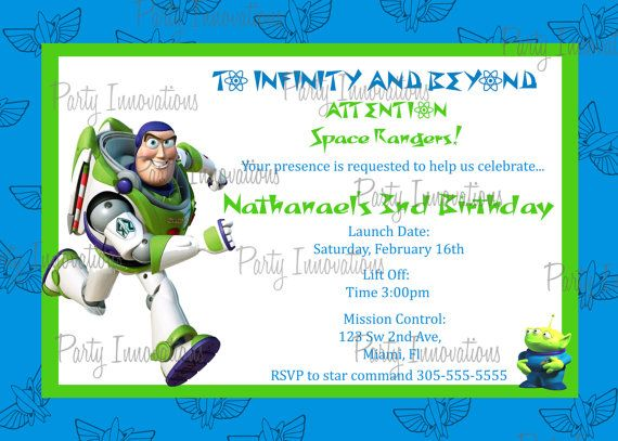 12 best Toy Story Party images – Buzz Lightyear Birthday Card