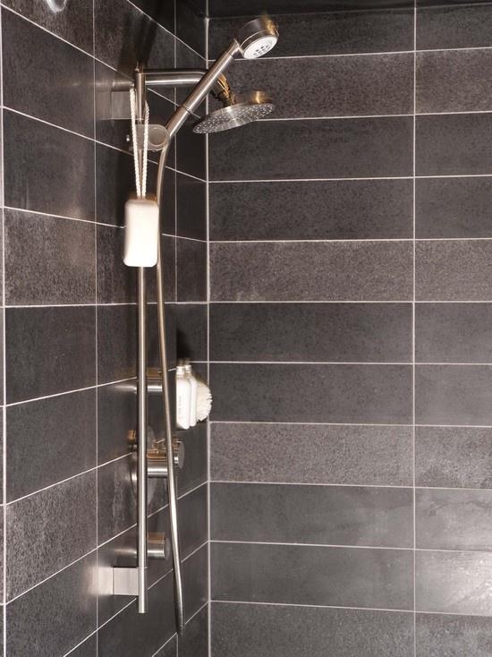 Shower Stripe Lighter And Darker Variations Of The Same Tile