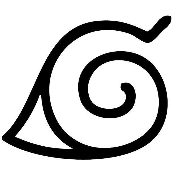 Konoha Hidden Leaf Swirl Village Symbol Naruto by ...