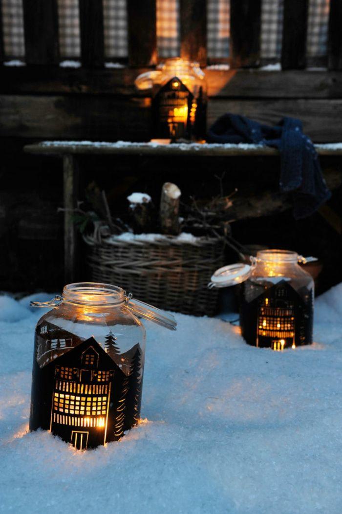 Die besten 25+ Laterne weihnachtlich dekorieren Ideen auf - anbauwand verschonern dekoideen