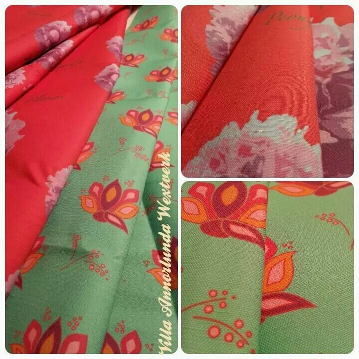 New fabric #peacockflower and #peony