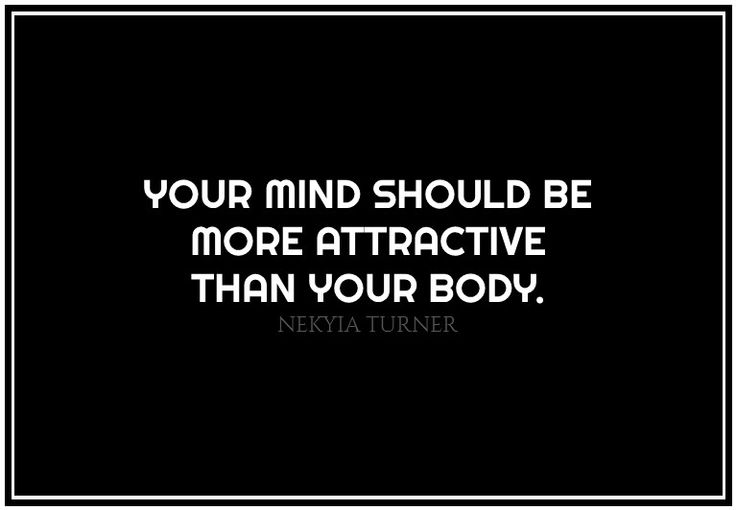 #44 your mind should be...