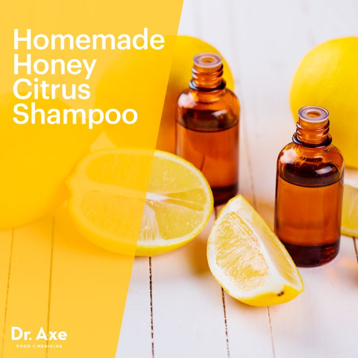 This Honey Citrus Shampoo helps to balance the hair's natural pH, it kills bacteria, restores moisture to hair, reduces dandruff and it doesn't strip the hair of its natural oils! www.draxe.com