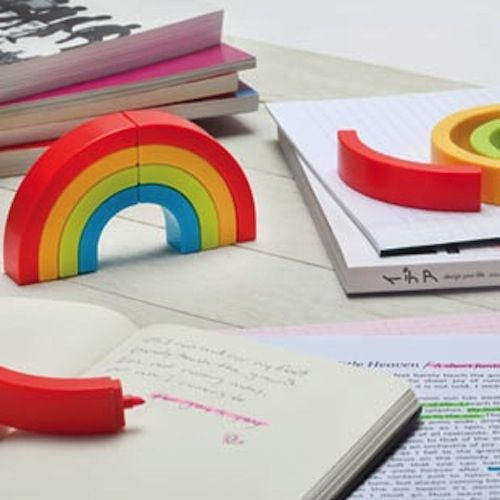 Rainbow Highlighters, $12.99   33 Rad Supplies That Will Make You Pumped To Go Back To School