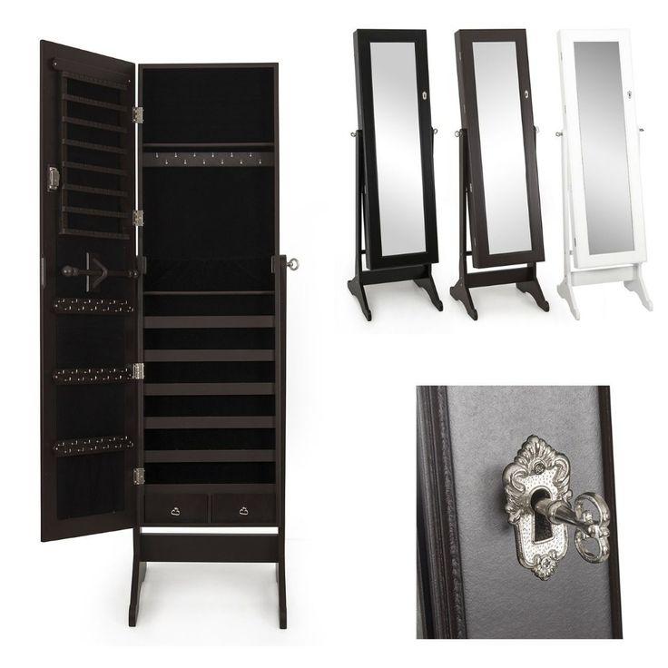 Зеркальный кабинет Amoire ящик для хранения стойкой зеркало и колье браслеты купить на AliExpress