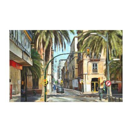 Crossroads in the southern city canvas print  $387.00  by NickVolk  - cyo diy customize personalize unique