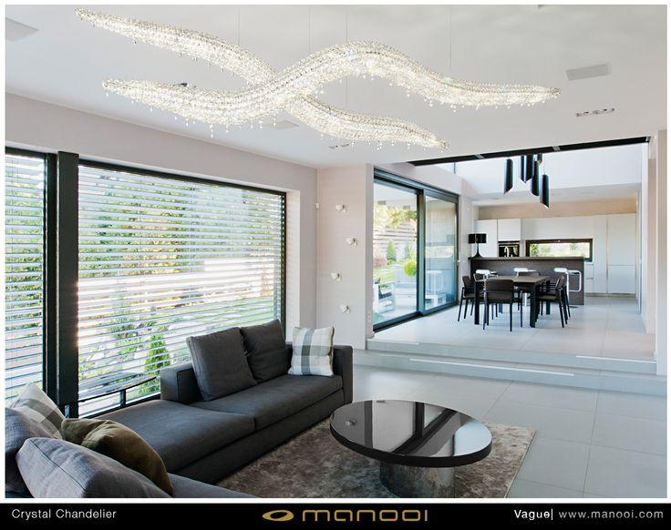 Vogue 3D crystal chandelier #Manooi #Chandelier #CrystalChandelier #Design #Lighting #Vague3D #luxury #furniture #interior