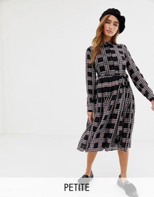 a098d94d863d Glamorous Petite – Rutig skjortklänning i midilängd   My style ...