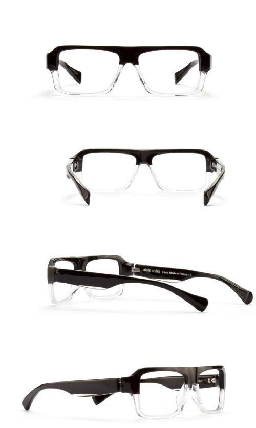 Alain Mikli Men's AL 0952 Black / Crystle Frame Glasses - 54mm width lens, The AL952 takes edgy to a new level. This straight-across-the-top shape with bi-level black to crystal coloring make these frames as current as it gets. Designed and manufactured in France., #Apparel, #Prescription Eyewear Frames
