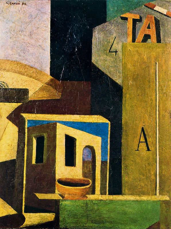 CARLO CARRÀ. Composizione Ta. 1916.