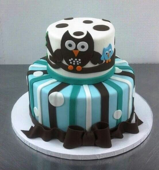 Owl Cupcakes For Baby Shower: It's A BOY Baby Shower Owl Cake!