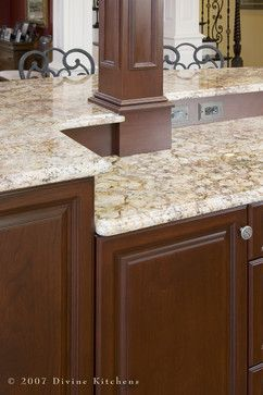Giallo Napoleon Granite Divine Kitchens Llc Traditional Kitchen Boston Divine Design