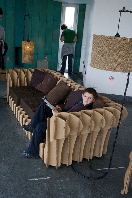 cardboard couch
