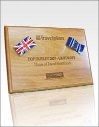 Custom flag plaque