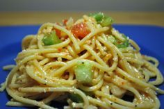 Cold Spaghetti Salad (homemade dressing), but I will make it with spaghetti…