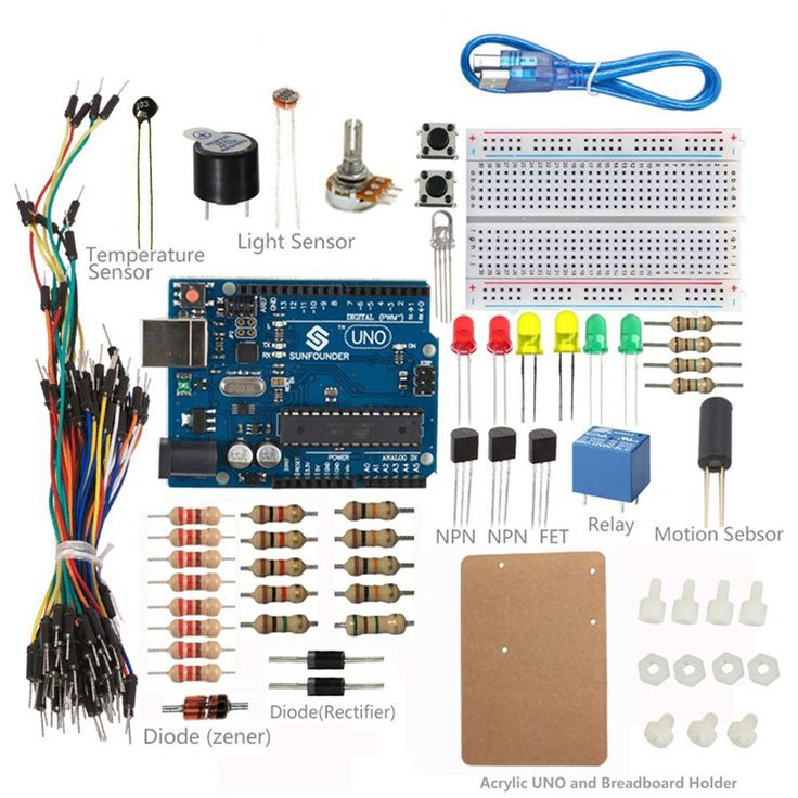 12 best make electronics component kit new 2nd edition images on sunfounder universal starter kit for arduino with uno r3 board fandeluxe Images