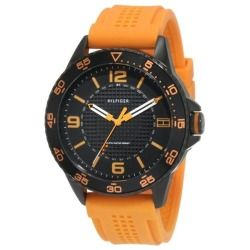 Tommy Hilfiger Men's 'Kiefer' 1790837 Orange Silicone Sports Watch - product - Product Review