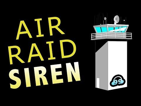 Air Raid Siren Sound Effect (NON COPYRIGHTED) - YouTube - Ideal for