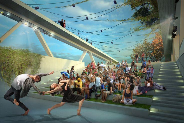 OMA + OLIN, seleccionados para diseñar el Puente-Parque de la calle 11 en Washington D.C