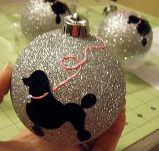 DIY ornament. With a dog silhouette!