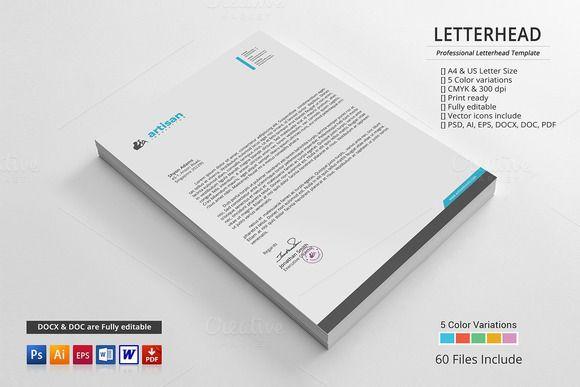 35 best Letter Head images on Pinterest Letterhead, Letterhead - letterhead sample in word
