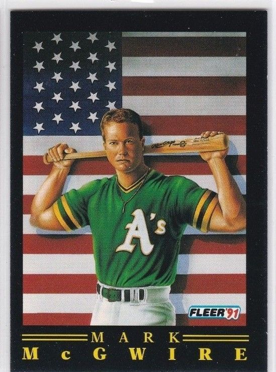 1991 Fleer Mark Mcgwire Oakland As Baseball Card No 4 Of 12