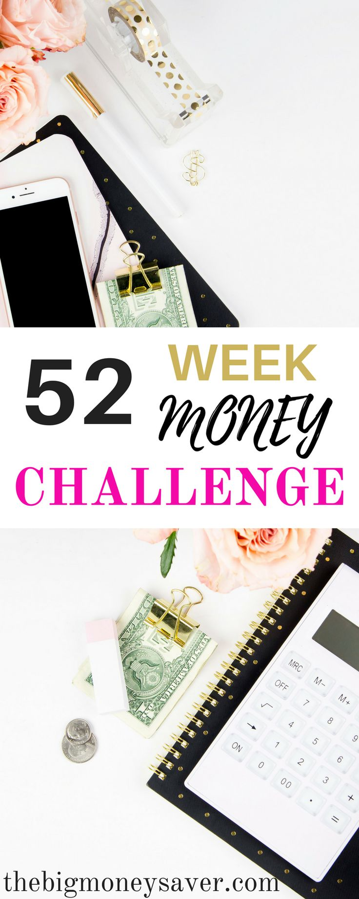 If you're feeling hopeless about saving money, here's your answer! Saving money is made possible and manageable for you with this FREE 52-week money challenge.
