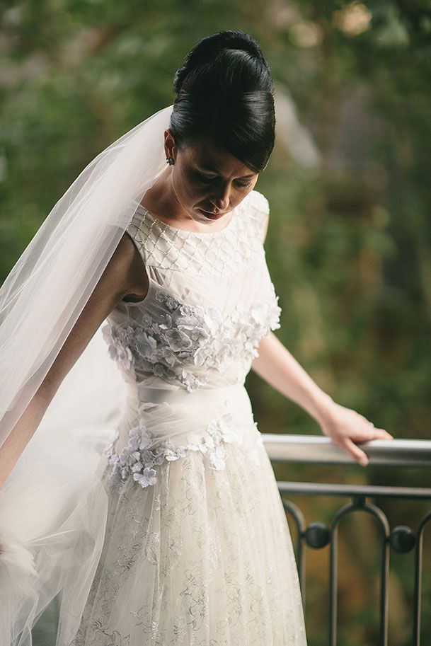"""""""I chose Julie to make my wedding dress because I felt comfortable with her and she was open to my ideas without forcing her own. She helped me choose fabrics and went the extra mile helping me select undergarments and accessories like jewellery that would suit the look of my wedding dress."""