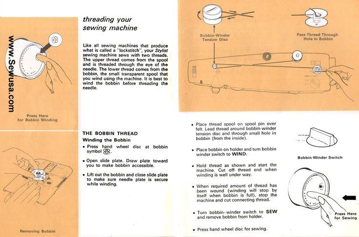pdf singer stylist 834 manual free
