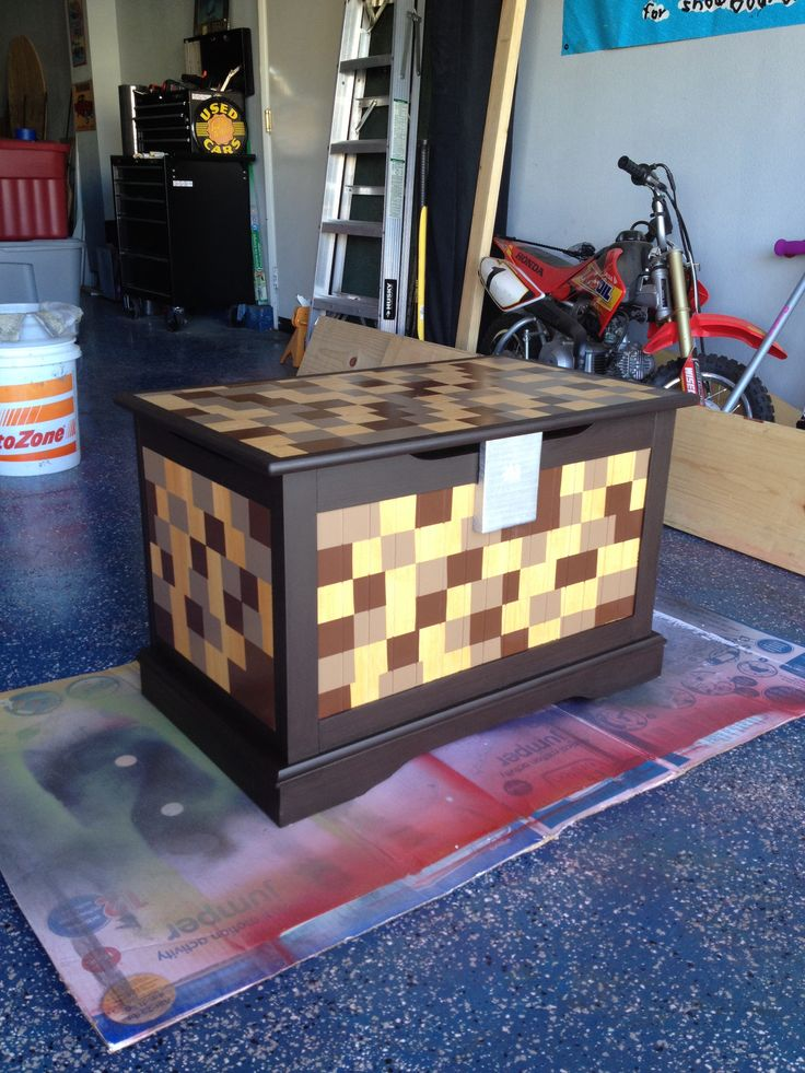 Real Life Minecraft Toy Chest Projects Pinterest