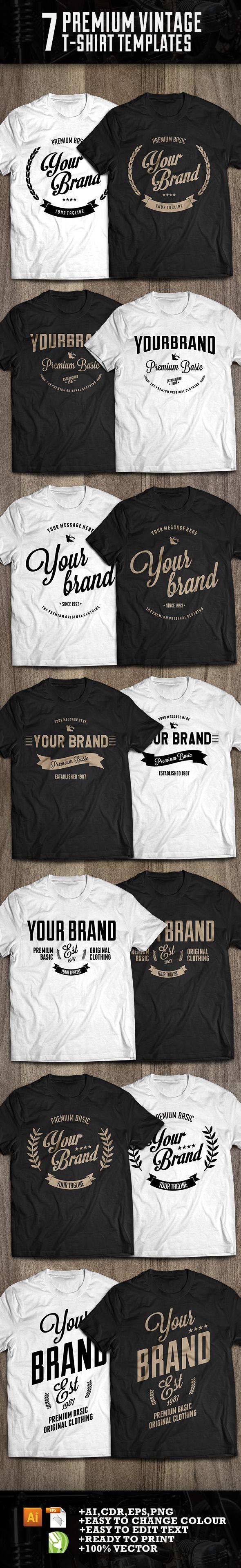 7 premium t-shirt template on Behance
